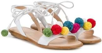 Aquazzura Mini Mini Pompom sandals