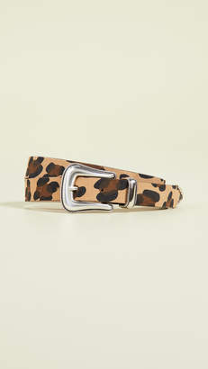 B-Low the Belt Wilder Suede Leopard Belt