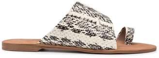 Diane von Furstenberg snake print sandals