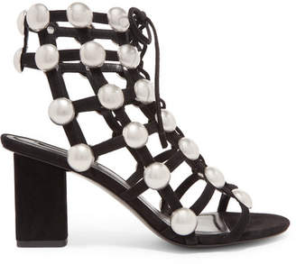 Alexander Wang Rainey Studded Suede Sandals - Black
