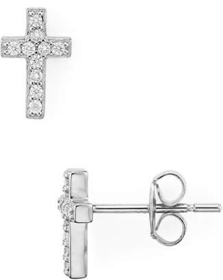 Aqua Small Cross Stud Earrings - 100% Exclusive