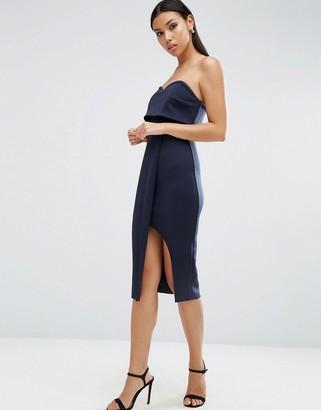 ASOS Bandeau Sweetheart Midi Wrap Dress $73 thestylecure.com