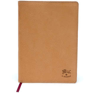 Il Bisonte Cowhide Leather Agenda Cover, Beige