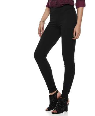 Rock & Republic Women's Lace-Up Ponte Leggings