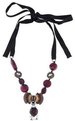Marni Crystal & Resin Collar Necklace