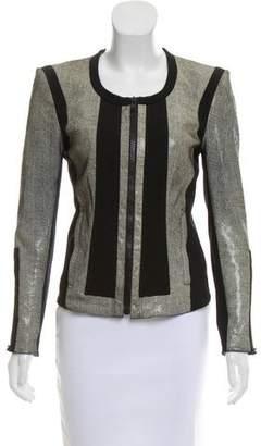 Helmut Lang Structured Leather Jacket