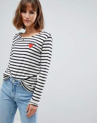 Maison Scotch Breton Stripe Long Sleeved T-Shirt
