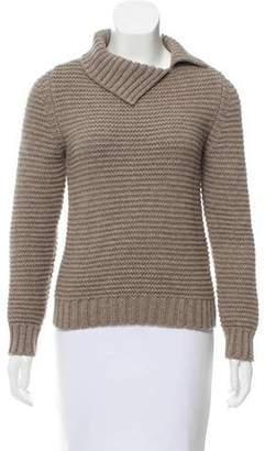 Oscar de la Renta Mock Neck Cashmere Sweater