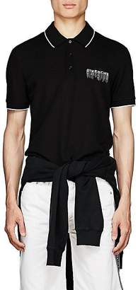 Givenchy Men's Sequined-Logo Polo Shirt - Black