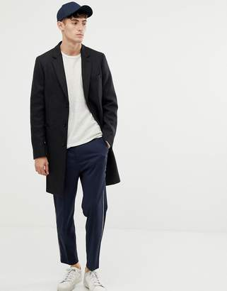 Paul Smith ePSom wool cashmere overcoat in charcoal