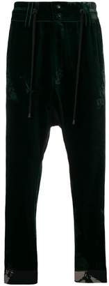 Di Liborio drop-crotch velvet trousers