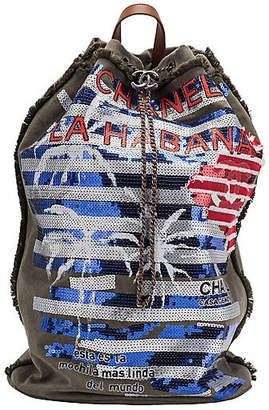 One Kings Lane Vintage Chanel Coco Cuba Backpack - Vintage Lux