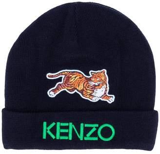Kenzo tiger patch beanie