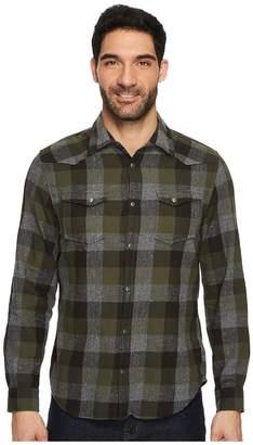 Calvin Klein Jeans Buffalo Brushed Twill Button Down Shirt Men's Clothing
