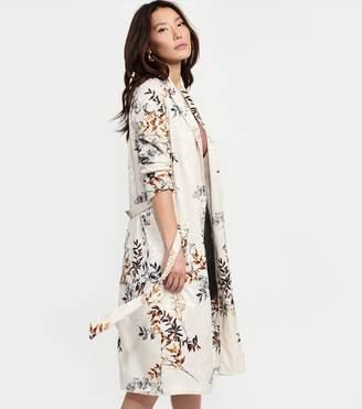 Dynamite Belted Maxi Kimono BEIGE FLORAL