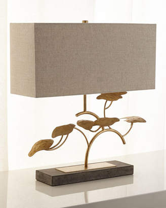 John-Richard Collection Gold Leaf Tree Table Lamp