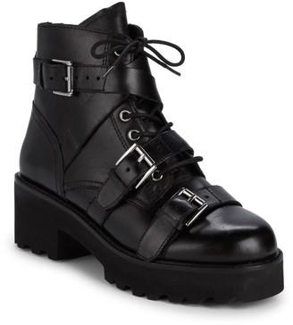 Ash Razor Multi-Buckle Leather Combat Boots