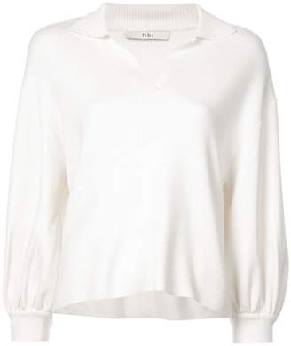 Tibi polo neck knitted sweater