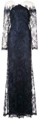 Tadashi Shoji lace off the shoulder gown