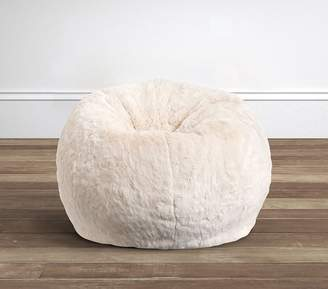 Pottery Barn Kids Ivory Faux-Fur Anywhere BeanbagTM;