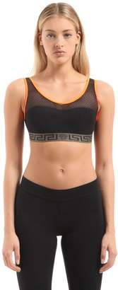 Versace Underwear Medusa Elastic & Mesh Sports Bra