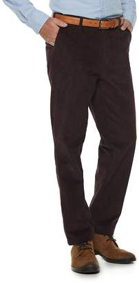 Croft & Barrow Men's Classic-Fit Easy-Care Stretch Flat Front Corduroy Pants