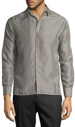 Lanvin Honeycomb Print Sportshirt
