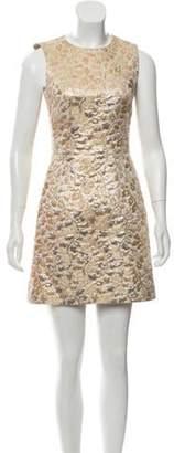 Dolce & Gabbana Jaquard Mini Dress w/ Tags Gold Jaquard Mini Dress w/ Tags