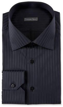 Stefano Ricci Men's Herringbone Dress Shirt