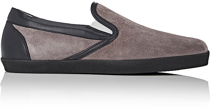 Barneys New York Barneys New York BARNEYS NEW YORK MEN'S SUEDE SLIP-ON SNEAKERS