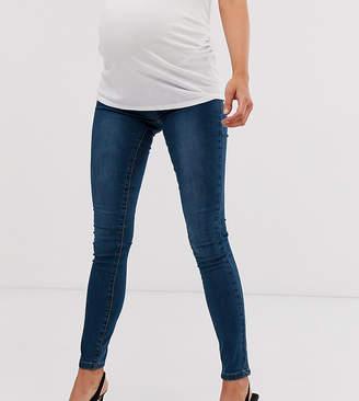 Mama Licious Mama.Licious Mamalicious elastic insert waistband skinny jeans