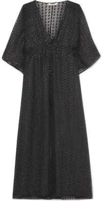 Eres Barbara Fil Coupé Silk-blend Dress - Black