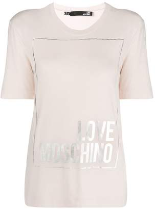 Love Moschino logo short-sleeve T-shirt