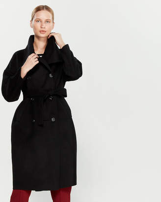 Liviana Conti Belted Double-Breasted Wool Coat