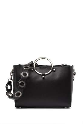 Rebecca Minkoff Ring Handle Leather Satchel