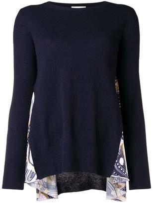 Dondup side printed panel sweater