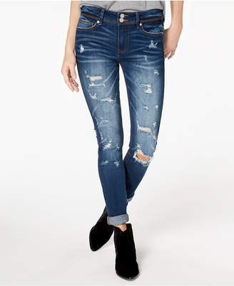 Indigo Rein Juniors' Mid-Rise Skinny Jeans