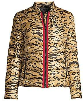Etro Women's Tiger-Print Quilted Puffer