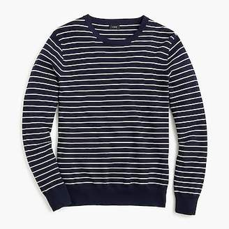 J.Crew Cotton-cashmere piqué crew neck sweater in stripe