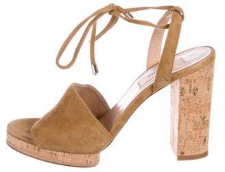 Valentino Suede Wrap-Around Sandals