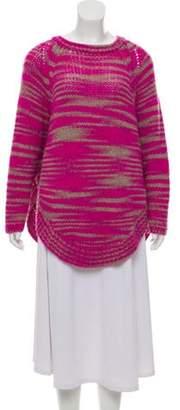 Calypso Striped Alpaca Sweater Pink Striped Alpaca Sweater