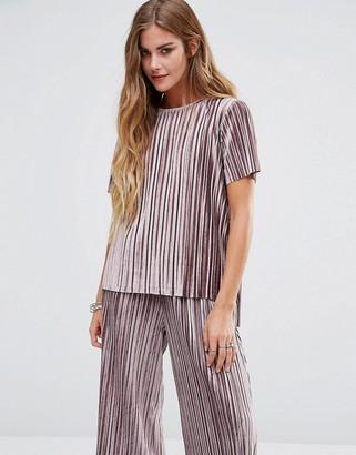 Glamorous Plisse T-Shirt In Luxury Velvet $34 thestylecure.com