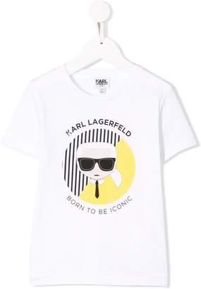 Karl Lagerfeld Paris white graphic T-shirt