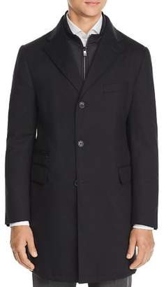 Corneliani Wool Twill Raincoat with Bib