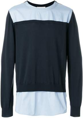 Cédric Charlier colour block sweatshirt