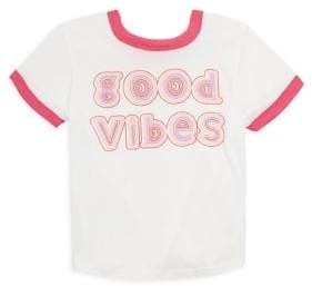 Rowdy Sprout Toddler's, Little Girl's& Girl's Good Vibes T-Shirt