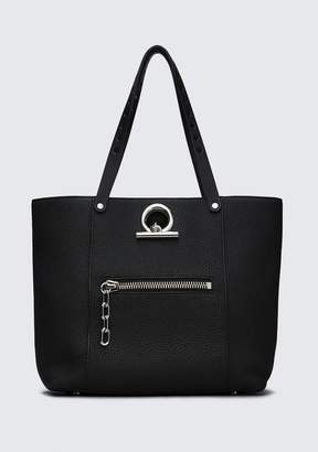 Alexander Wang RIOT TOTE IN MATTE BLACK WITH RHODIUM TOTE