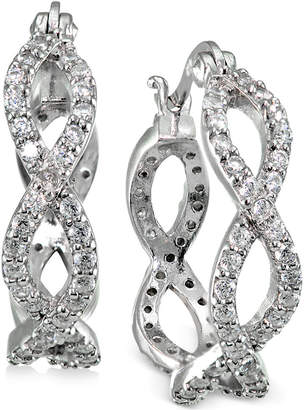 Giani Bernini Cubic Zirconia Infinity Hoop Earrings in Sterling Silver, Created for Macy's