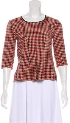Hache Wool Tweed Top