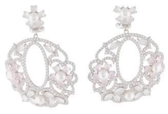 Fleurette Angélique de Paris Pearl & Cubic Zirconia Earrings